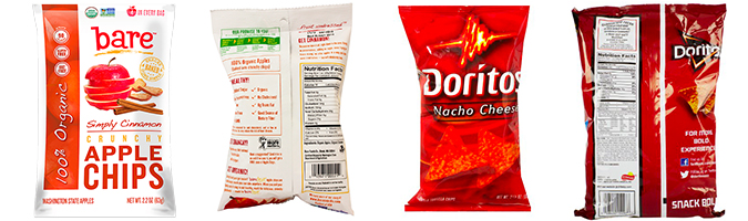 doritos vs bare Chips