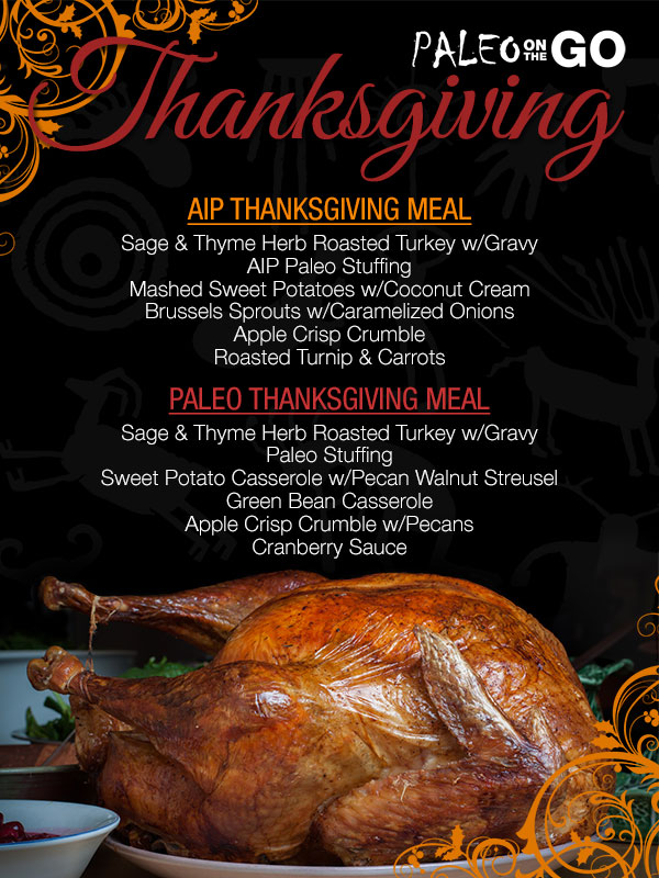 Paleo Thanksgiving Meal Delivery
