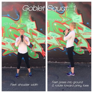 how to do a goblet squats