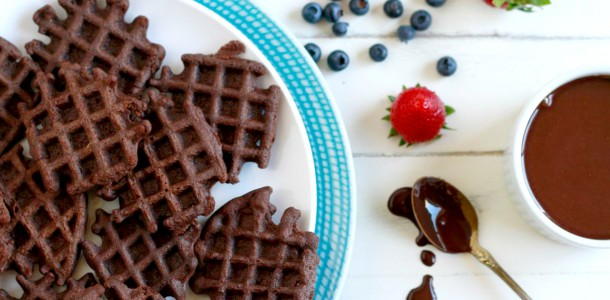 Paleo OMG- Mini Chocolate Waffles