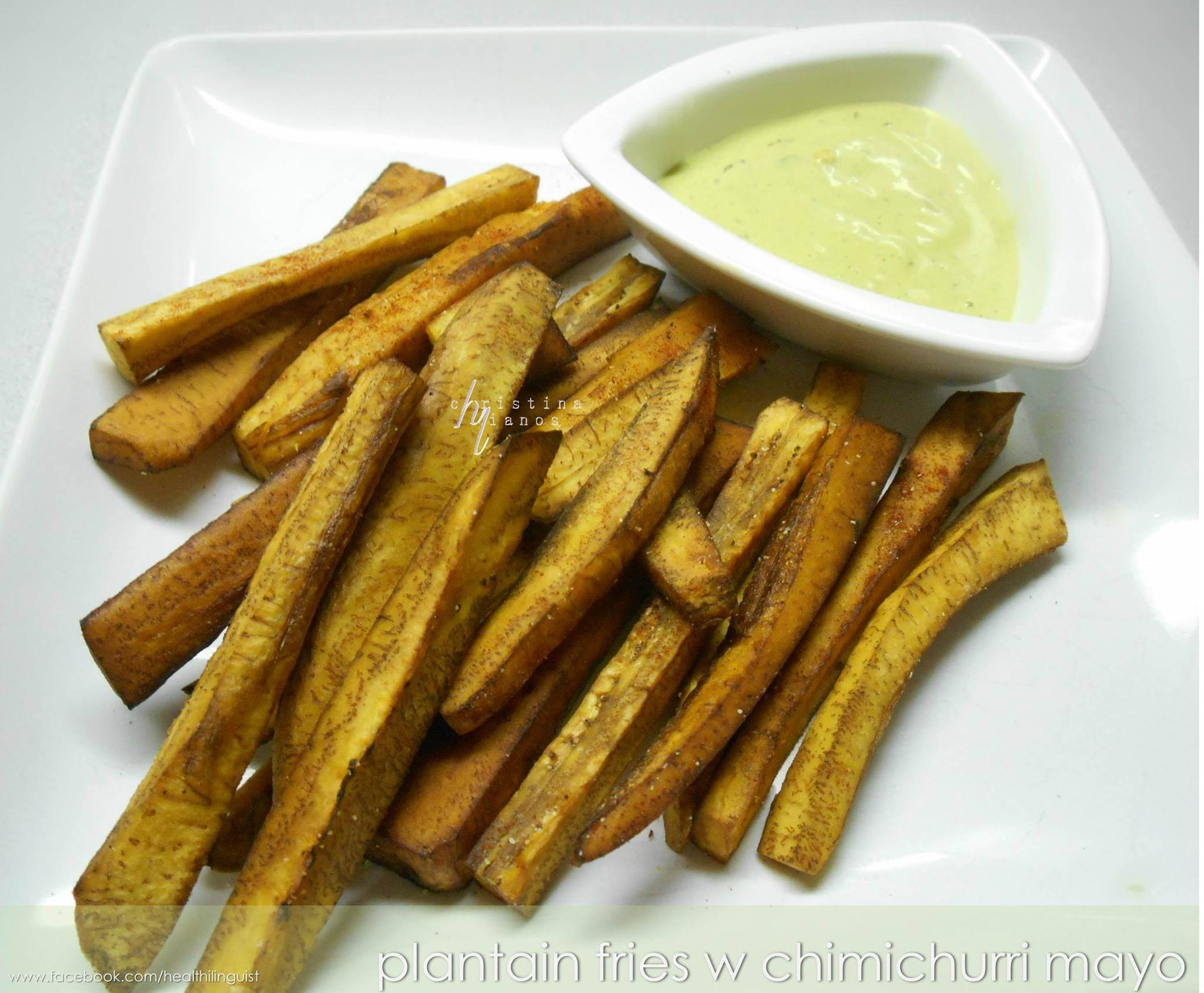 Plantain Fries and Chimichurri Mayo