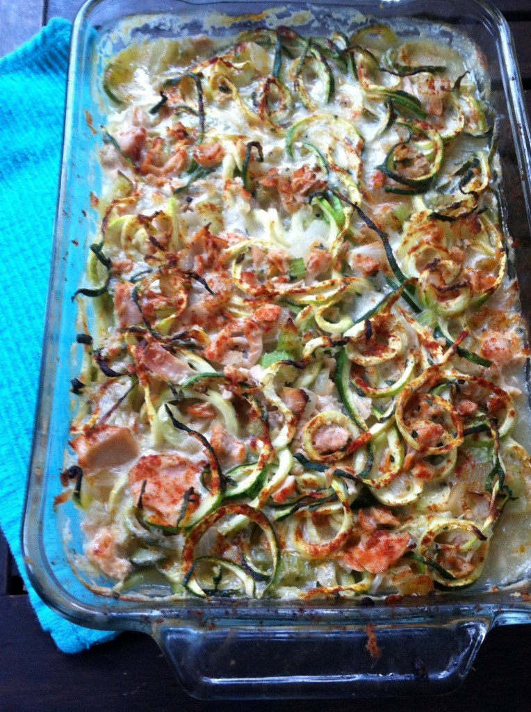 Tuna Zoodle Casserole with Smoked Paprika