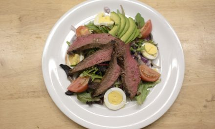 Grilled Steak Cobb Salad with Vinaigrette Dressing