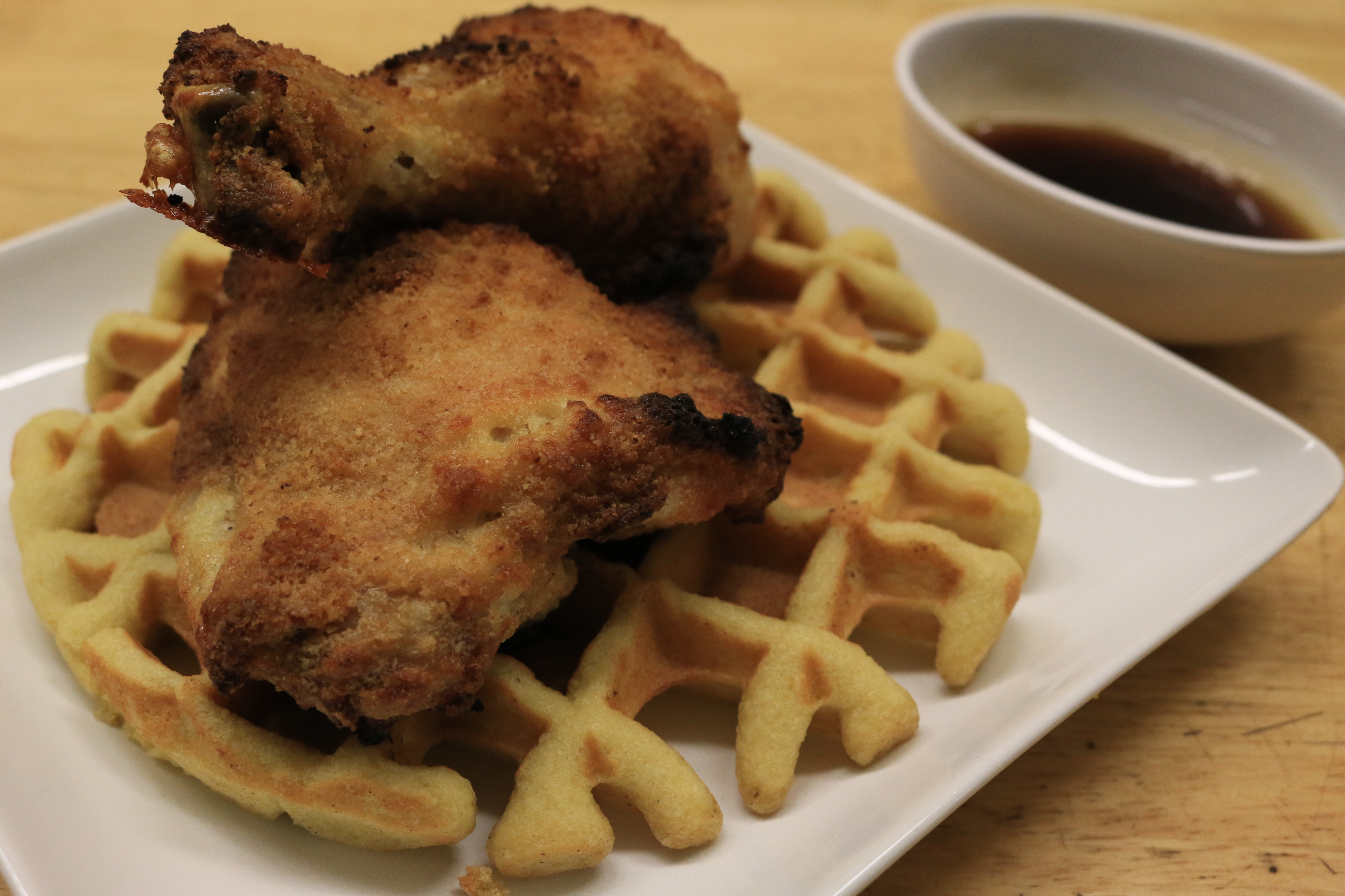 Paleo Waffles and Oven Fried Chicken (Grain-Free)