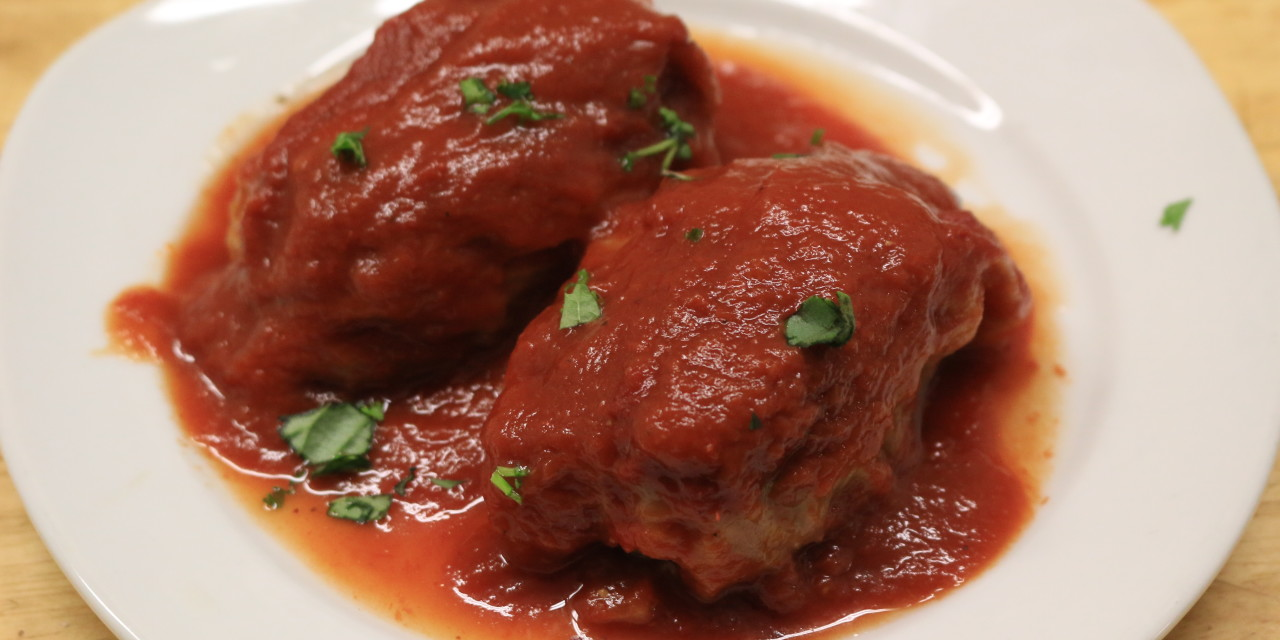 Savory Stuffed Cabbage in Sweet & Sour Sauce