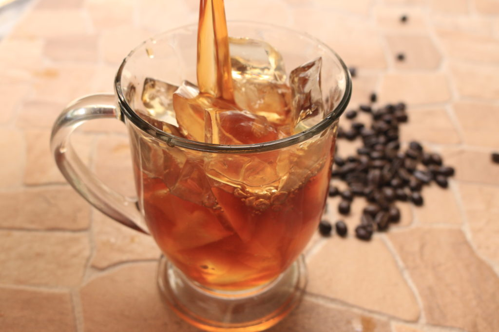 glass of cold brew coffee