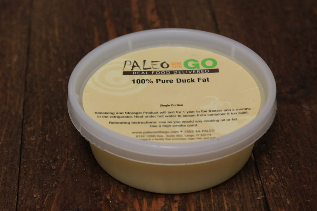 tub of duck fat
