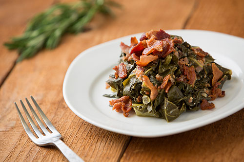 Collard Greens With Smoky Bacon