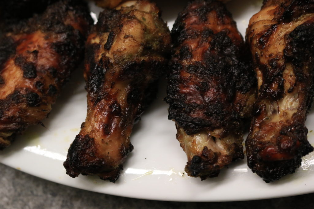 paleo jamaican jerk chicken wings on a plate
