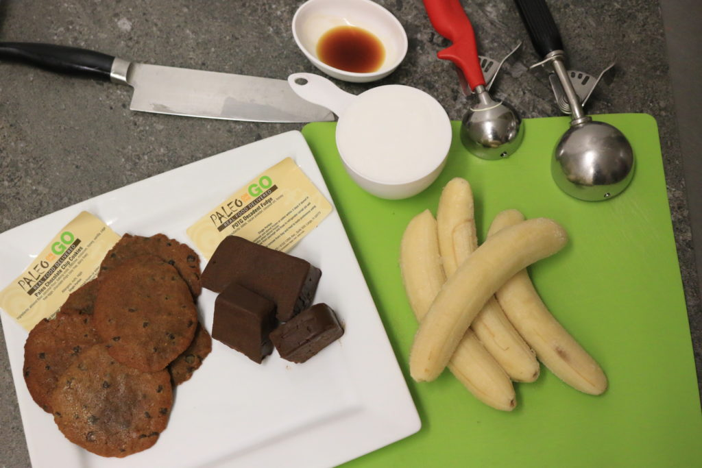 fudge banana and cookies for paleo ice cream