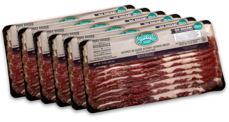 Pederson's Natural Farms Sugar Free Bacon (6 Pack)