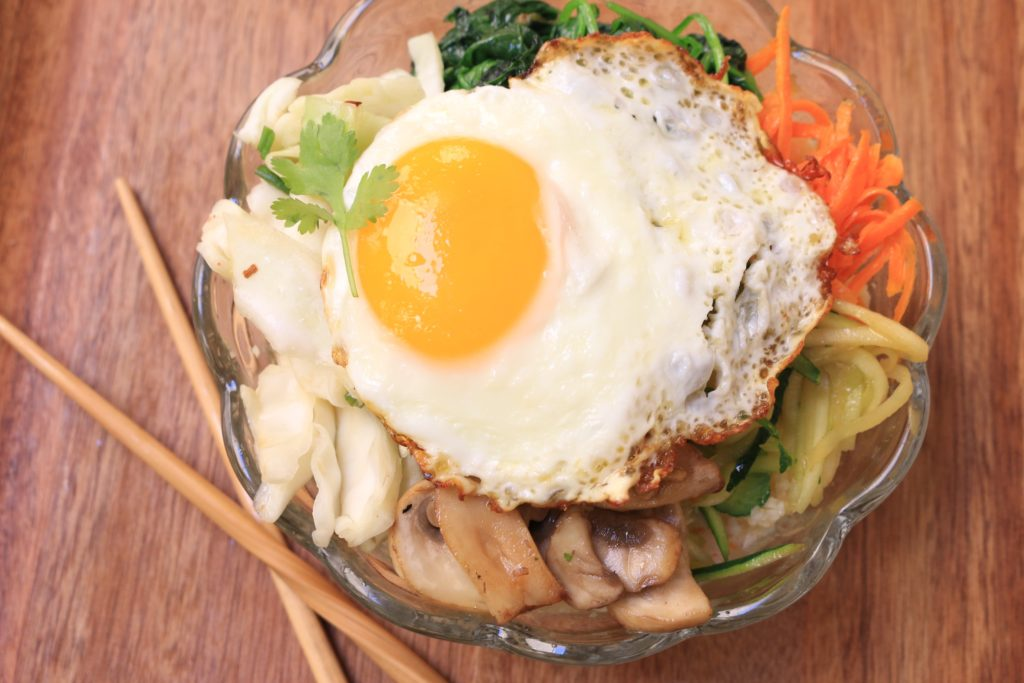 Korean Rice Bowl made from fresh paleo ingredients.Enjoy the flavors of Korean Bibimbap without all the fuss. Get the recipe here!