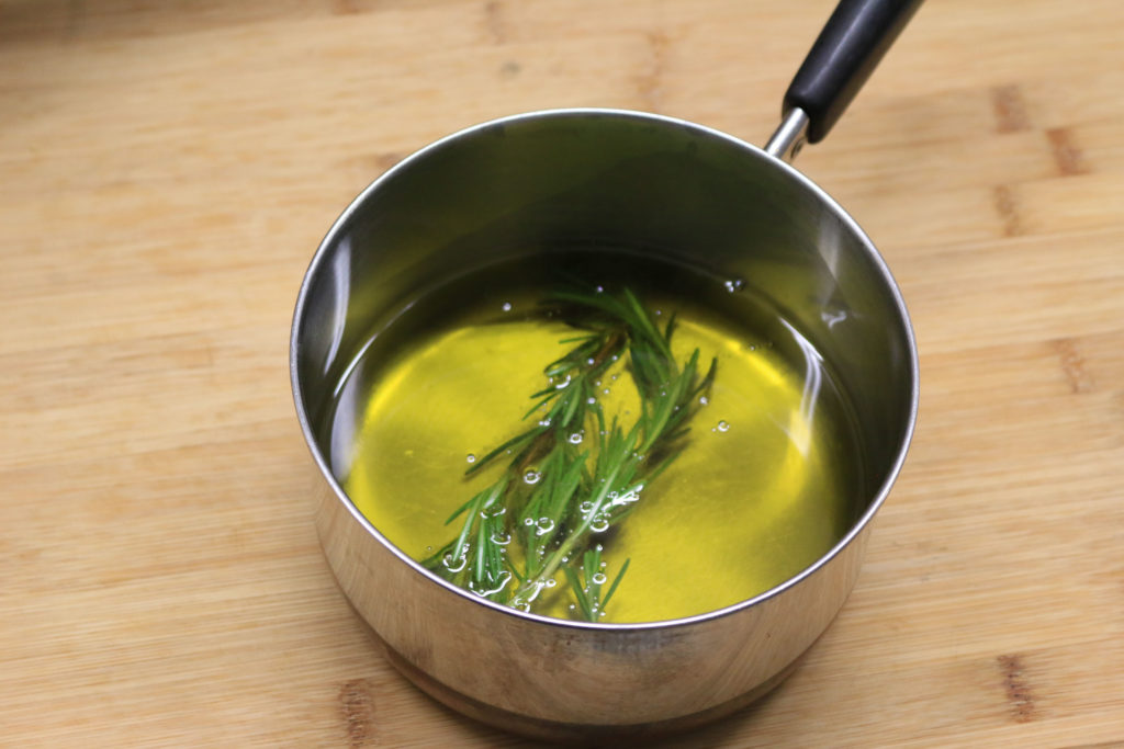 Fresh thyme and lemon is steeped in olive oil to make our Lemon Thyme Infused olive oil.