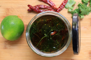 Cilantro Lime Chili Infused Oil
