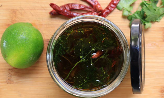 Cilantro Chili Lime Infused Oil