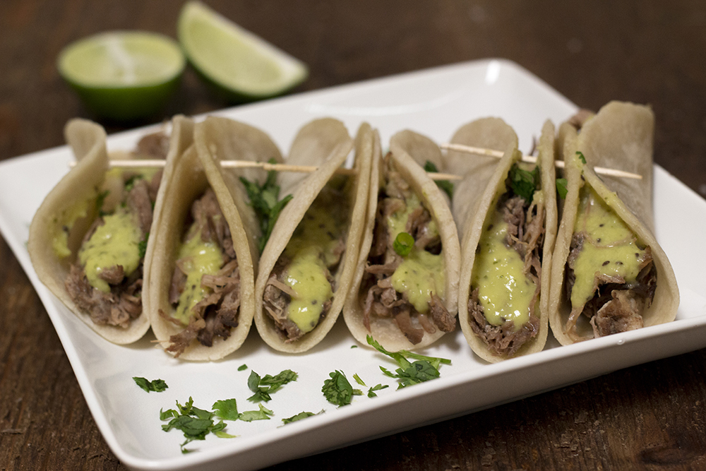 Grass Fed Beef Taco Kit With Salsa Verde (6 Tacos)