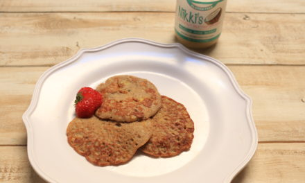 Paleo Banana Pancakes with Nikki's Coconut Butter Spread