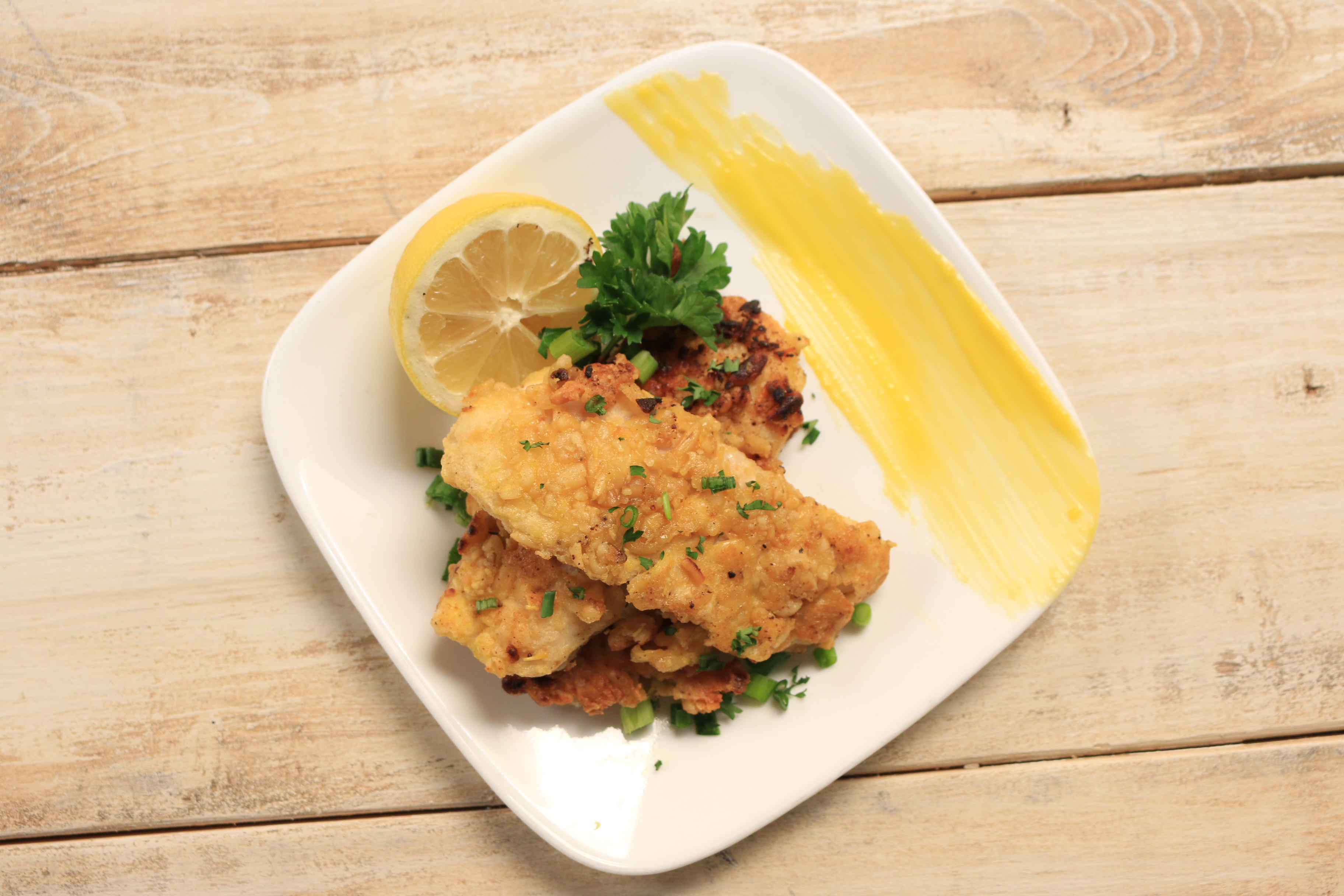Pine Nut Crusted Snapper with Lemon Hollandaise