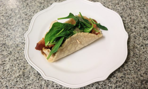 AIP/Paleo Chicken, Bacon and Spinach Wrap