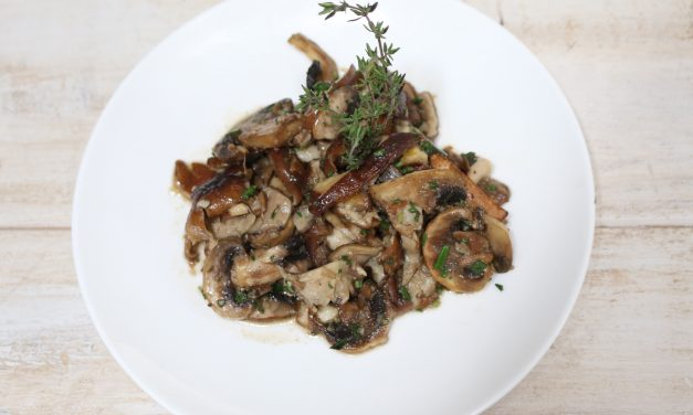 Tasty Garlic and Fresh Herbs Sautéed Mushrooms