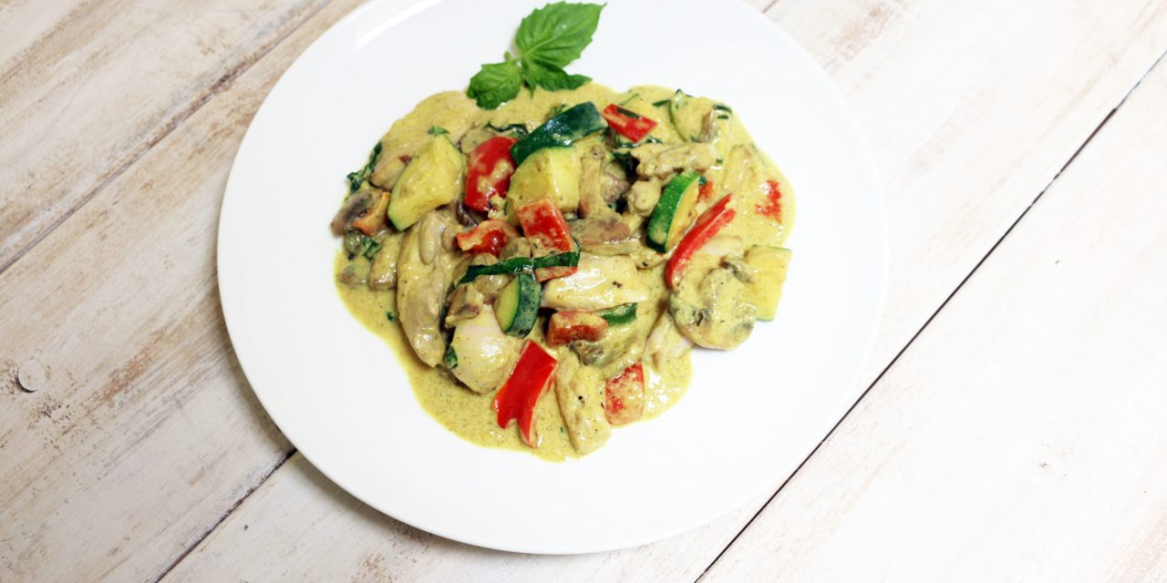 Basil Chicken & Vegetable Coconut Curry