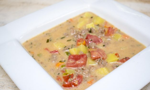 Paleo Lunchbox: Your Kids will Love Our Paleo Cheeseburger Soup!
