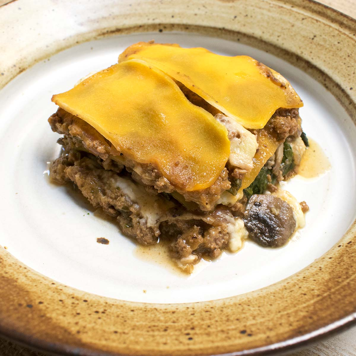 Spinach and Mushroom Beef Lasagna (AIP)