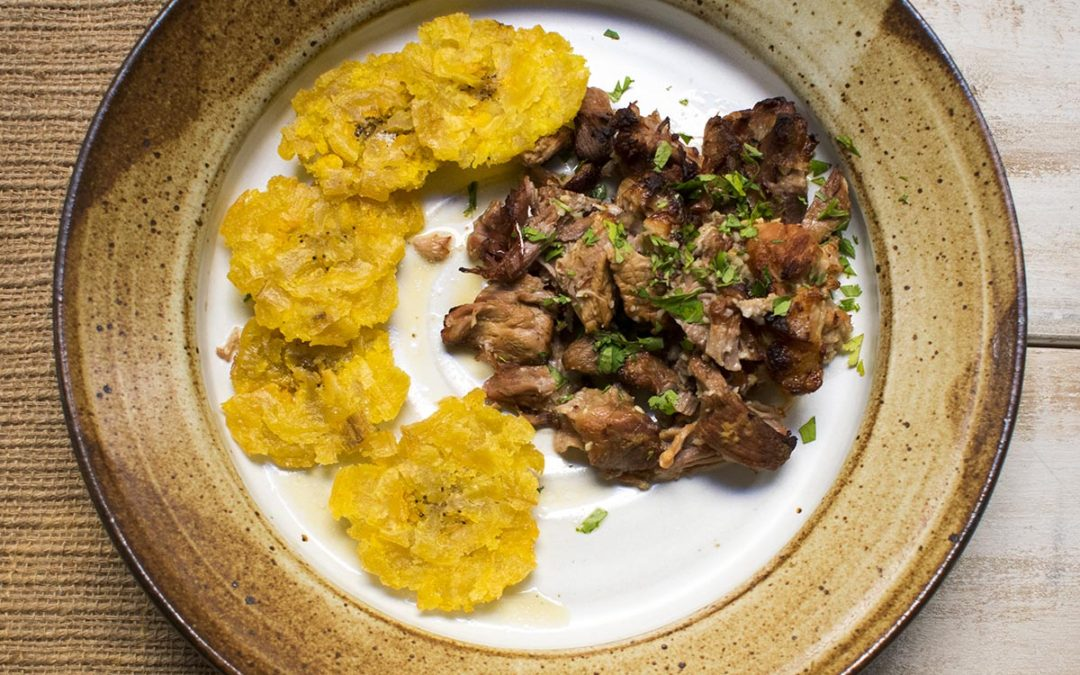 Instant Pot AIP Mojo Pork and Tostones