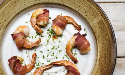 AIP Maple Glazed Bacon Wrapped Shrimp