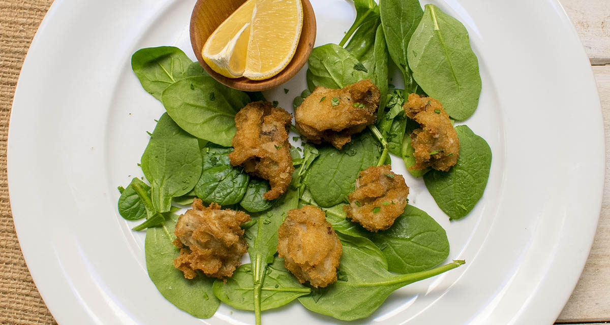 AIP Oyster Bar – Southern Fried Oysters with Lemon and Parsley
