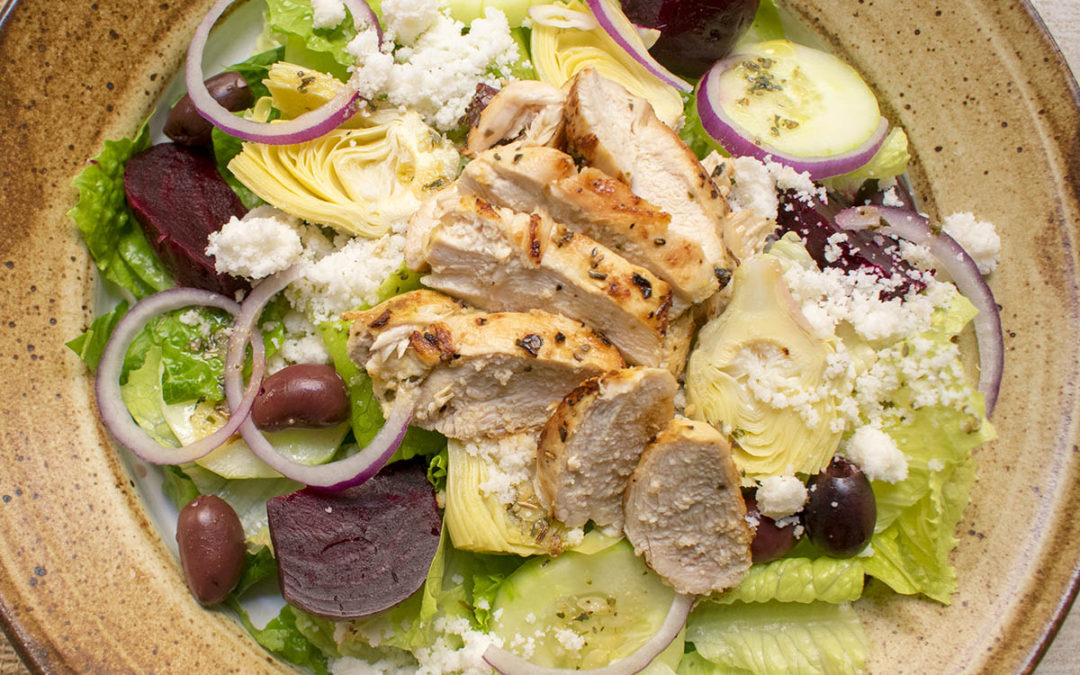 Chicken Souvlaki Greek Salad (AIP)