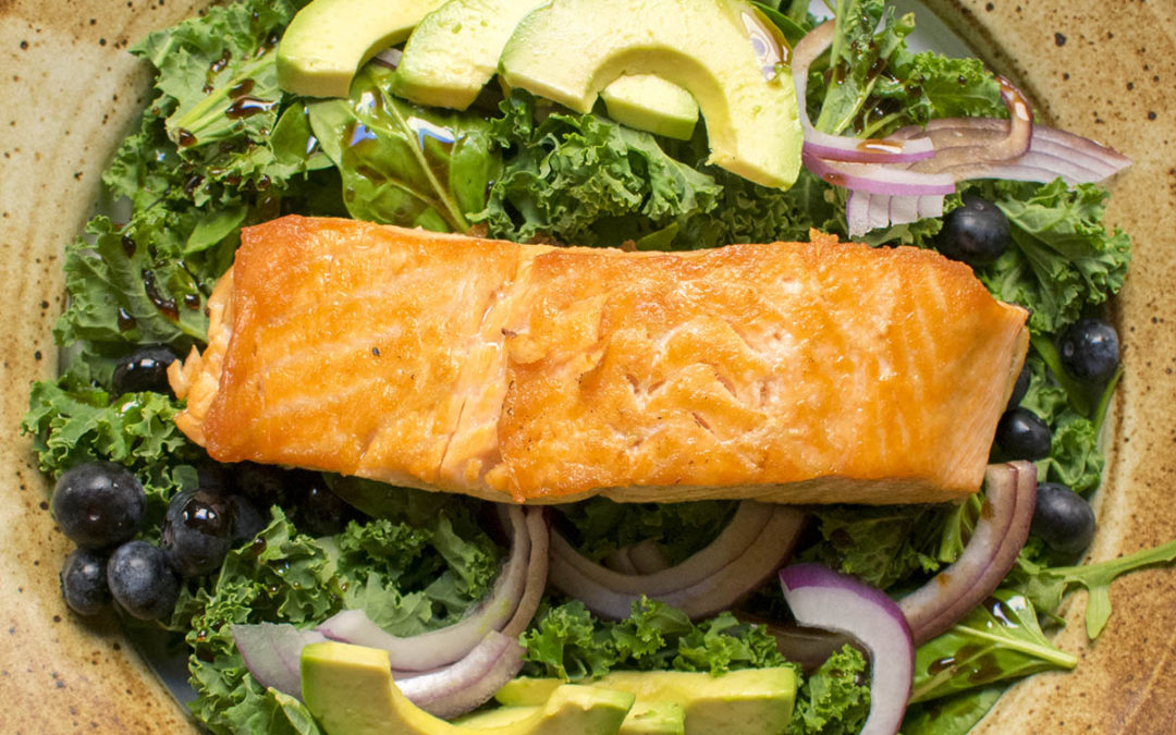 Amazing Superfood Salad with Scottish Salmon (AIP)
