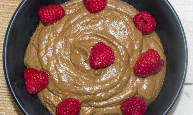 Carob Mousse with Raspberries (AIP)