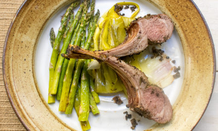 Roast Rack of Lamb, Asparagus & Braised Leeks (Keto/AIP)