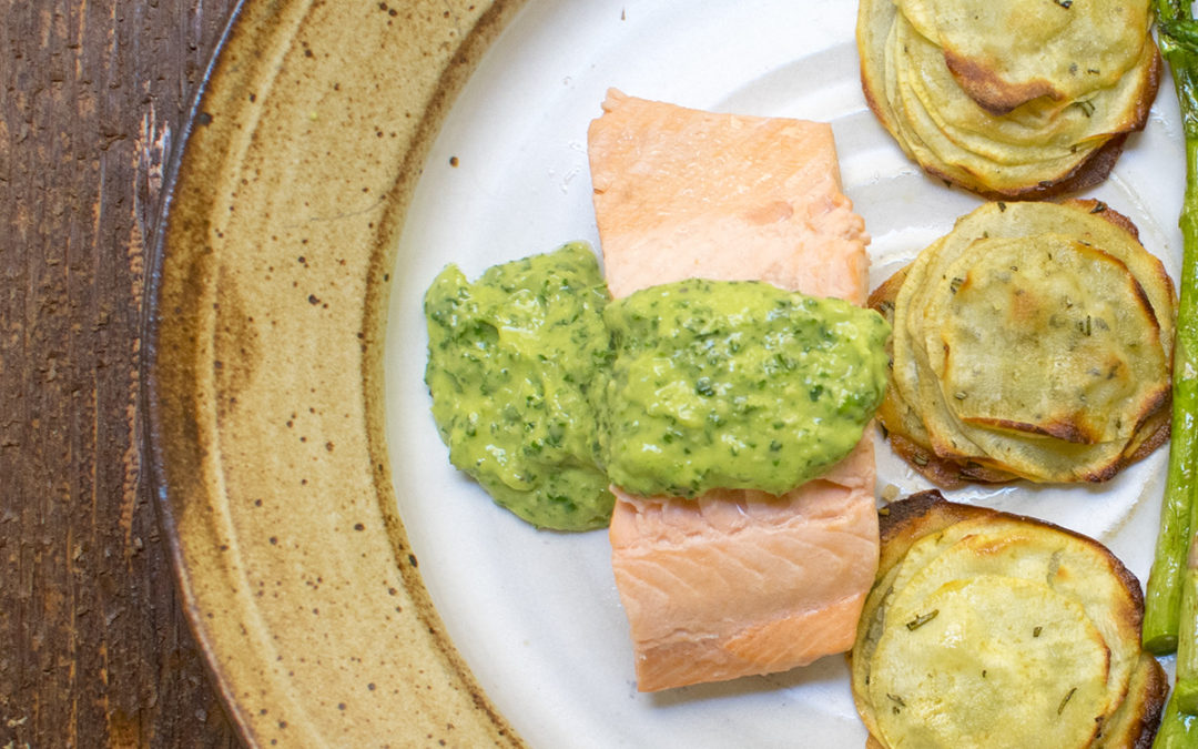Poached Salmon with Green Sauce AIP – POTG Test Kitchen