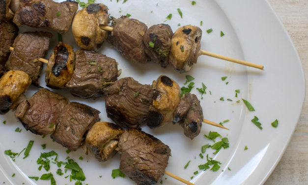 AIP Balsamic Steak & Mushroom Skewers – POTG Test Kitchen