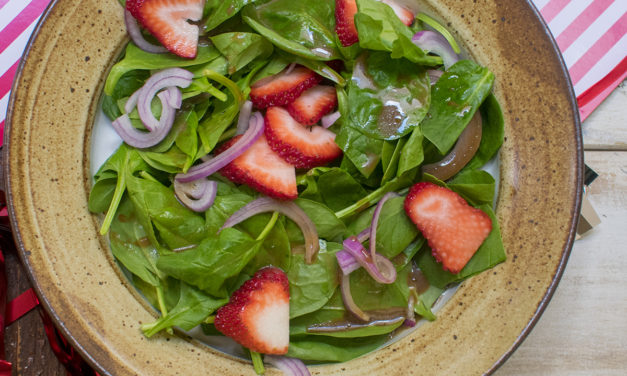AIP Spinach Salad with Honey Balsamic Vinaigrette