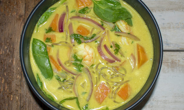 Thai Curry Shrimp and Vegetable Soup (AIP)