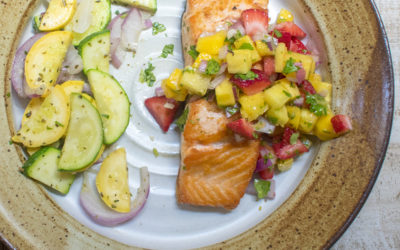Skillet Seared Salmon with Caribbean Mango Pineapple Salsa (AIP) – POTG Test Kitchen