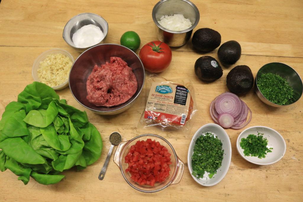 chorizo burger ingredients