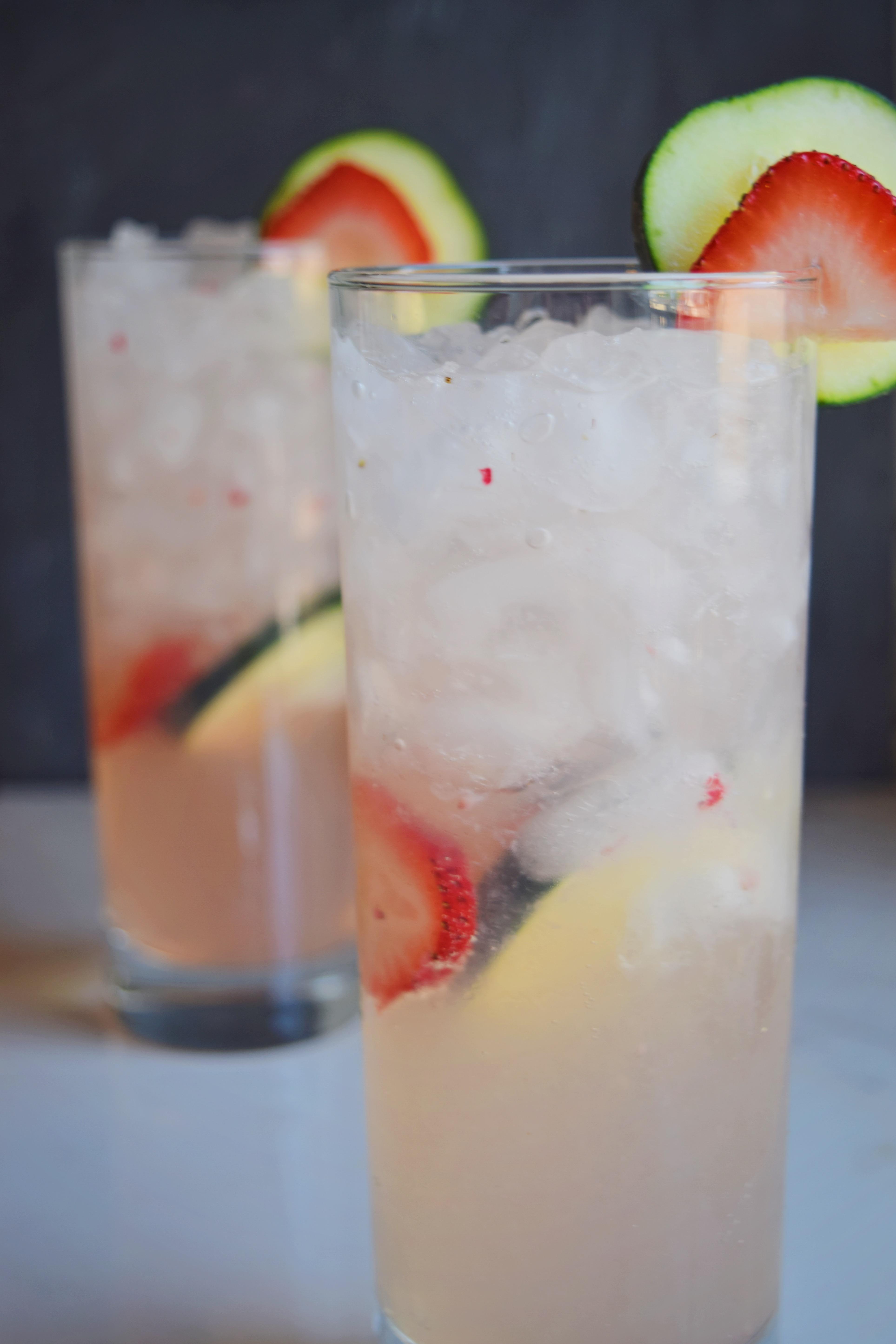 Sugar Free Strawberry Sage Agua Fresca