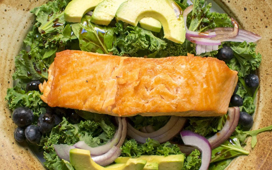 Amazing Superfood Salad with Scottish Salmon (AIP)